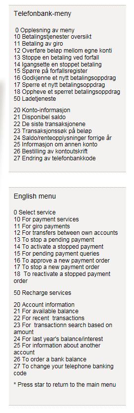 TELEFONBANK Hva er telefonnummeret til telefonbanken