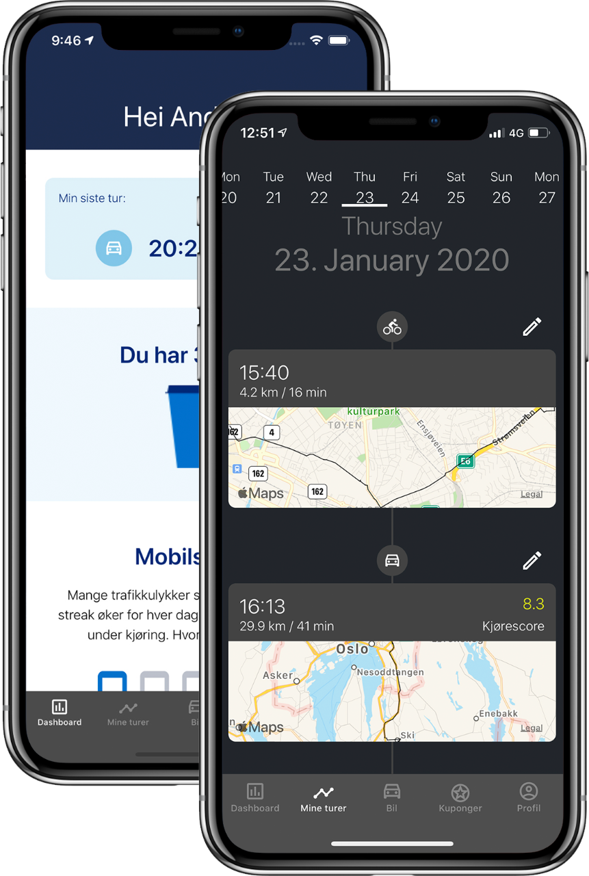 Smart bilforsikring smartbil 1-app iphone